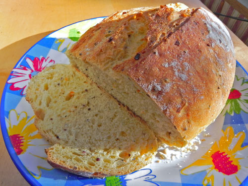 BakerTom's Thyme, carrot and caraway bread.