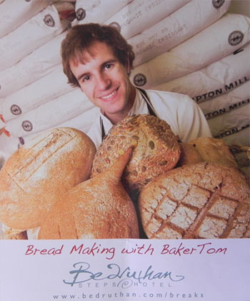 Tom Hazzeldine runs bread making courses at Bedruthan Steps Hotel.